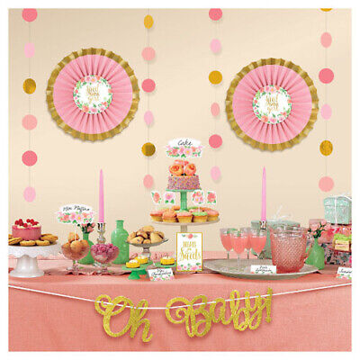 Baby Shower Decorating Kit (BABY SHOWER Sweet Floral BUFFET DECORATING KIT (23pc) ~ Party Supplies Girl)