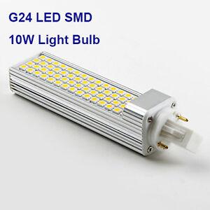 G24 SMD 5050 LED 10W Cool White 4000K Light Bulb 2 Pin ...