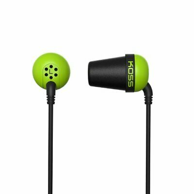Koss Plug Earphone - Stereo - Green, Black - Mini-phone - Wired - 16 Ohm - 10 Hz comprar usado  Enviando para Brazil