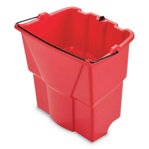Rubbermaid Commercial 2064907 WaveBrake 2.0 18 qt. Dirty Water Bucket - Red New