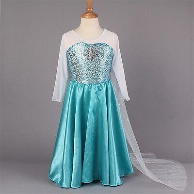 Snow Queen Princess Mädchen Kleid Kostüm Brandneues (Snow Queen Kleid Kostüm)