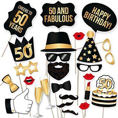 PartyGraphix DIY50th Happy Birthday Props for Birthday Party Photo Booth Props  (Photo Booths For Birthday Parties)