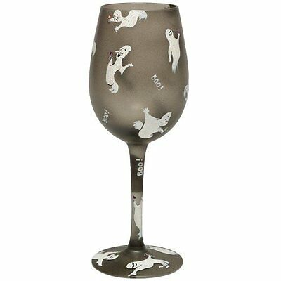 Lolita | GHOST PARTY WINE GLASS ✪NEW✪ RETIRED 15 Oz Halloween RARE HAND PAINTED