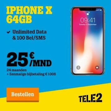 iPhone X Unlimited SUPERDEAL! Inclusief abonnement