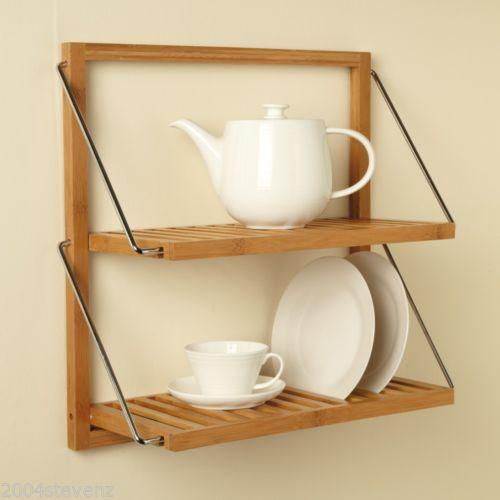 Timber Kitchen Shelves: Wooden Kitchen Shelves