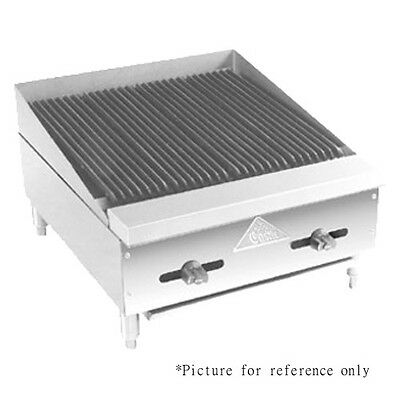 Comstock Castle Fhp72-6lb 72 Countertop Gas Charbroiler - Lava Rock Radiants