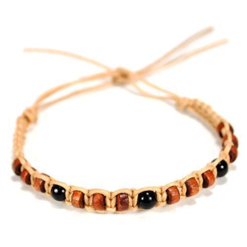 mens wood bead bracelet ebay. Black Bedroom Furniture Sets. Home Design Ideas