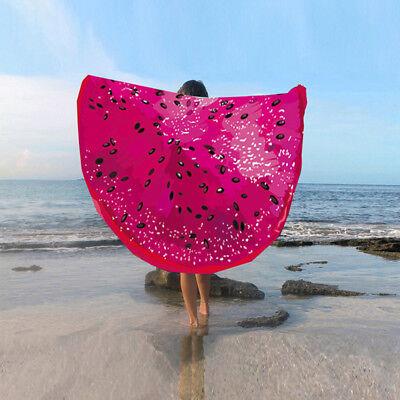 3D Sommer Obst Emoji Handtuch Sonnenschutz Yoga Strandtuch Matten Schal Neu
