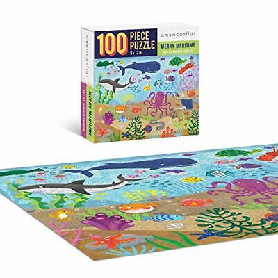 Jigsaw Puzzle Game for Adults Kids Merry Maritime 100 Piece Contemporary Puzzles