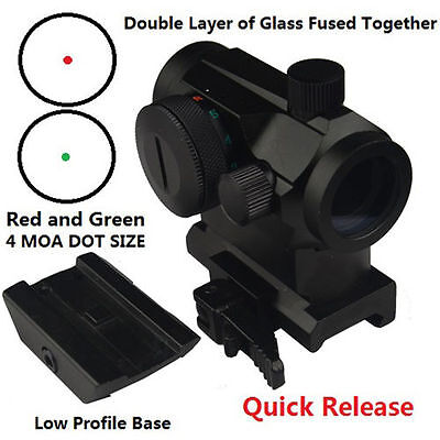 Field Sport Quick Release Red And Green Micro Dot Sight Extra Low Profile Base