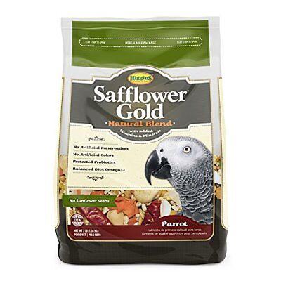 Higgins Safflower Gold Parrot Bird Food 3 Pound