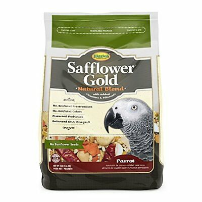 Higgins Safflower Gold Large Hookbill Bird Food 3lb Multi-Co