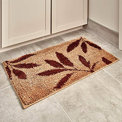 Machine Washable Microfiber Accent Rug for Bathroom&Office B