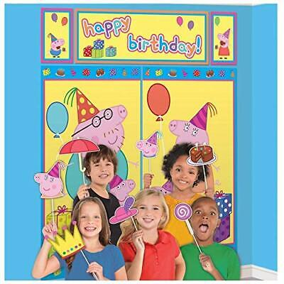 Peppa Pig Birthday Banner (PEPPA PIG WALL BANNER DECORATING KIT (5pc) ~ Birthday Party Supplies  + 12)