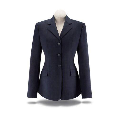 NEW RJ Classics Ladies Show Coat- Navy Plaid Stretch- D8368 - Various Sizes
