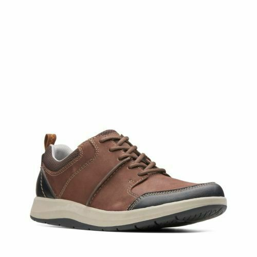 Clarks Men's Shoda Stride Brown Leather Casual Shoes 26136730