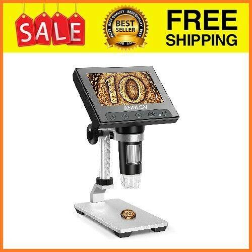 LCD Digital Microscope,Annlov 4.3 Inch Handheld USB Microscope 50X-1000X Magnifi