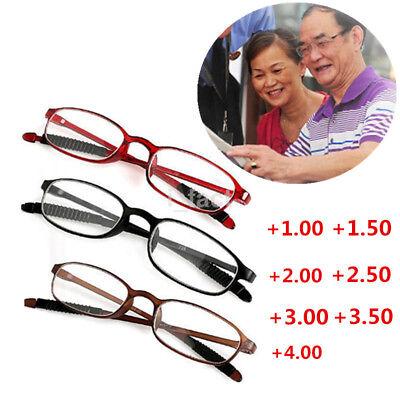 Hot TR90 Flexible Women Men Reading Glasses Light Presbyopic Glasses +1.00~+4.00