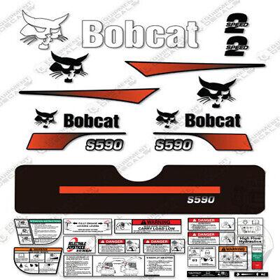 Bobcat S590 Compact Track Loader Decal Kit Skid Steer Curved Stripes S-590