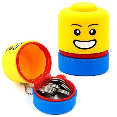 Oxford LEGO Silicone Cute Kids Coin Purse Pouch Keyring Multi Mini Pouch Bag