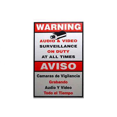 New Surveillance Sign Spanish English Cctv Warning Security Camera Sign