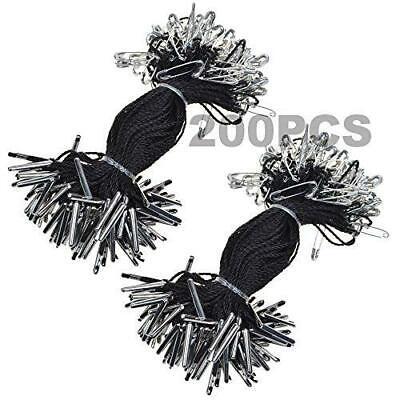 Bcp 4 Inches 200pcs Nylon Garment Hang Tag String Clothing Lanyard Tag Rope