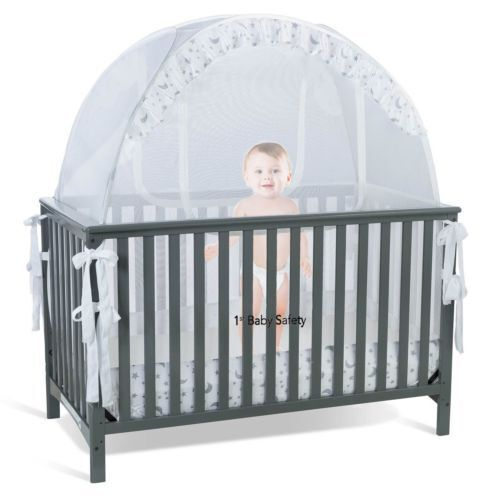 Baby Crib Tent Safety Net Pop Up Canopy Cover - Never Recalled UVG