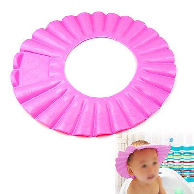 Baby Infant Child Tearless Shampoo Shield Shower Hat Cap Wash Hair Pink Bath