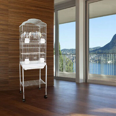 """63"""" New Tall Cockatiel Parakeet Finch Canary Bird Cage With White Stand 1703H150"""