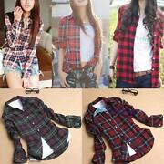 Womens Long Sleeve Flannel Shirt
