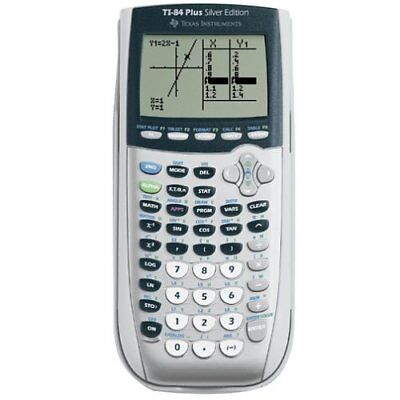 Texas Instruments TI-84 Plus Silver Viewscreen Calculator Handheld Graphing