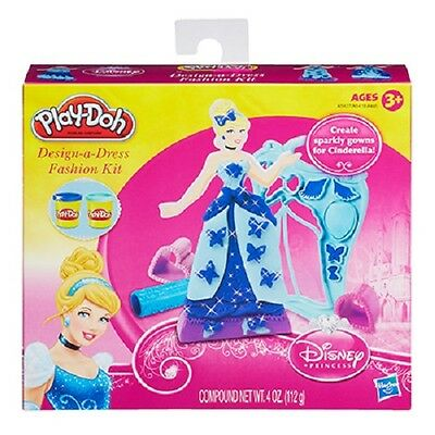 NEW HASBRO PLAY-DOH DESIGN A DRESS FASHION KIT DISNEY PRINCESS CINDERELLA A5427