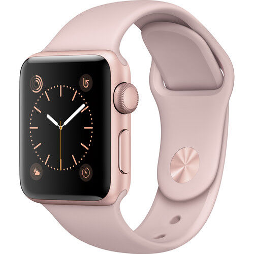 $379.99 - NEW APPLE WATCH SERIES 2 38MM ROSE GOLD ALUMINUM CASE PINK SAND SPORT BAND