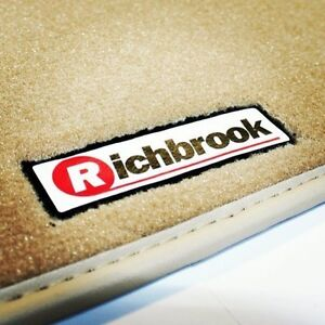 Isuzu Trooper Mk1 (81-91) Richbrook Beige Carpet Car Mats with Leather Trim