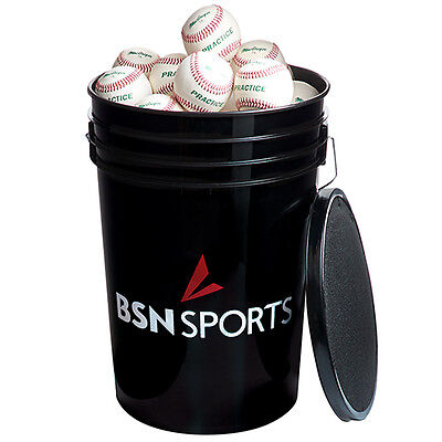 BSN SPORTS™ Bucket with 3 DZ MacGregor® 79P Practice Baseballs