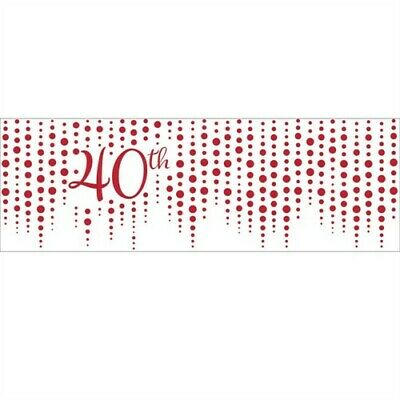 Anniversary Banner - Sparkle and Shine Ruby 40th Anniversary Giant Banner Anniversary Decorations
