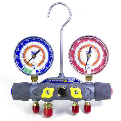 Yellow Jacket 49935 Titan 4-valve Test Charge Manifold Psi Fc