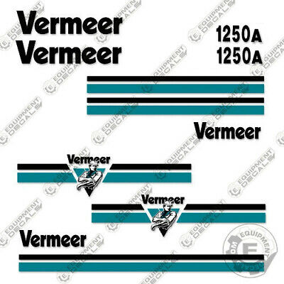 Vermeer Bc1250a Decal Kit Brush Chipper Replacement Stickers - 3m Vinyl