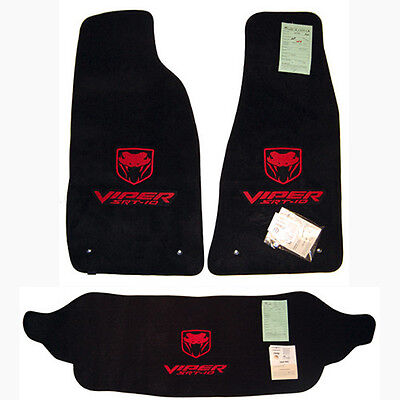2003 - 2010 Dodge Viper Trunk & Floor Mats Set Viper SRT10 Logo - Custom Colors