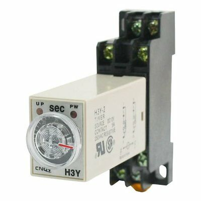 H3y-2 Dc 12v Delay Timer Time Relay 0 - 60 Seconds With Base