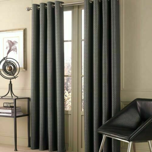 Valeron Double Width Window Panel Lustre Solid in Charcoal 1