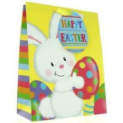 Easter Gift Bag Eggs Egg Chicks Present Ribbon Handles MEDIUM