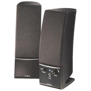 Haut-parleurs d'ordinateur stéréo 2.0 d'Insignia (NS-PCS20-C) –
