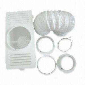 Universal Tumble Dryer Condenser Air Vent Kit White Indoor Box Hose Pipe Adapter