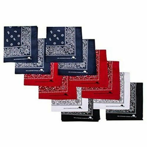 Bandanas Assorted Colors Machine Wash Top Quality Since 1898