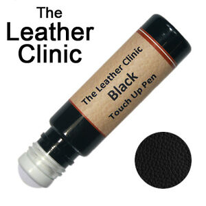 BLACK Leather Paint Touch Up for Sofa Car Shoes Handbag & more.