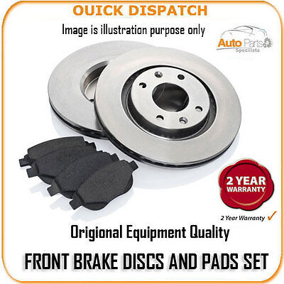 3416 FRONT BRAKE DISCS AND PADS FOR CITROEN SAXO 1.4 (4 HOLE WHEELS) 5/1996-2/20