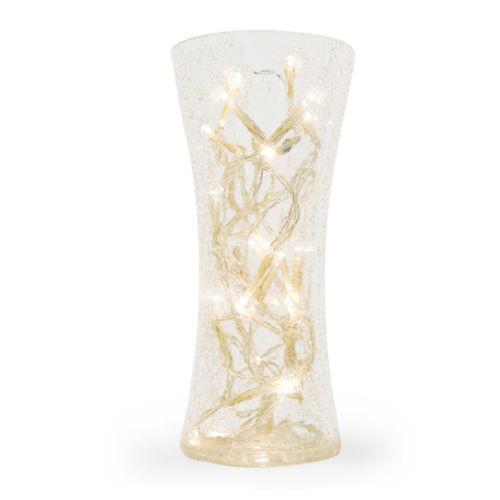 Crackle Glass Vase Ebay