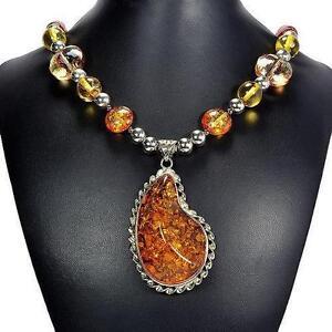 Amber pendant ebay amber pendant necklace mozeypictures Choice Image