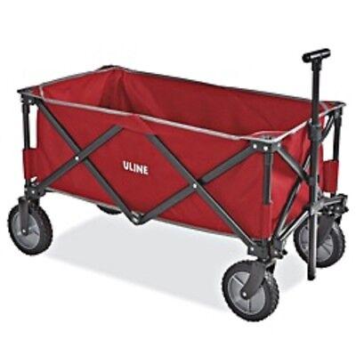 Quad Folding Utility Wagon S-21433 NEW IN BOX W/ ULine Logo -  Red